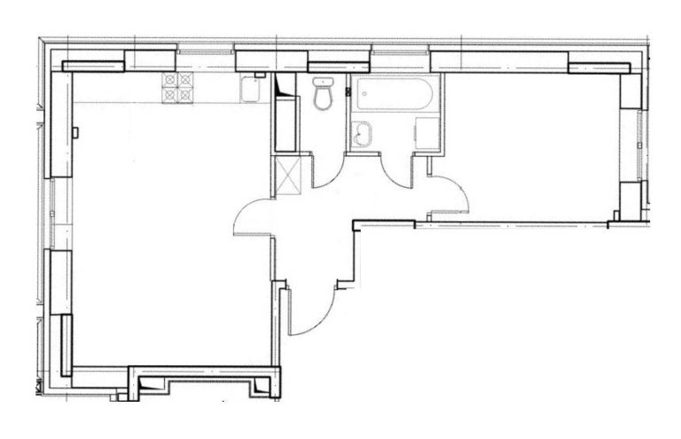 2-комнатная квартира в ЖК Солнечная система, дом №4, квартира №332