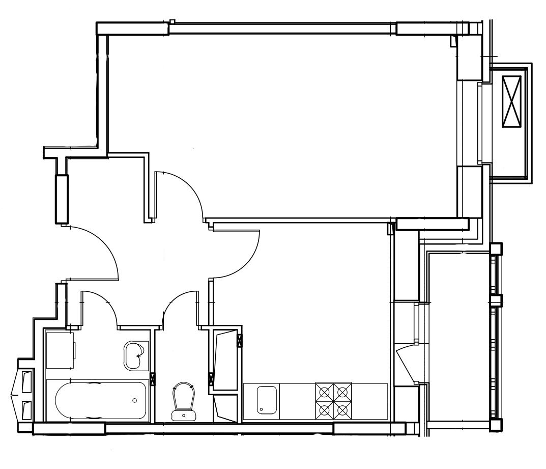 1-комнатная квартира в Митино О2, дом №8, квартира №08-106