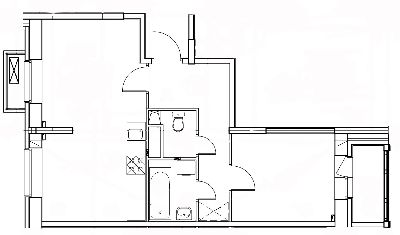 2-комнатная квартира в Митино О2, дом №8, квартира №08-124