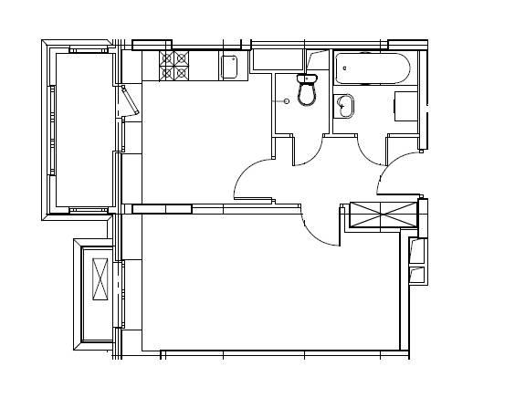 1-комнатная квартира в Митино О2, дом №8, квартира №08-156