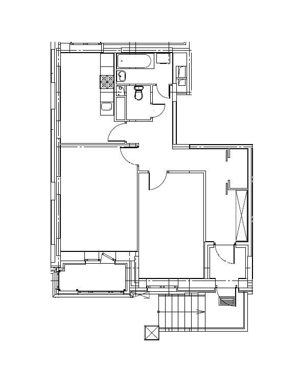 2-комнатная квартира в Митино О2, дом №8, квартира №08-002