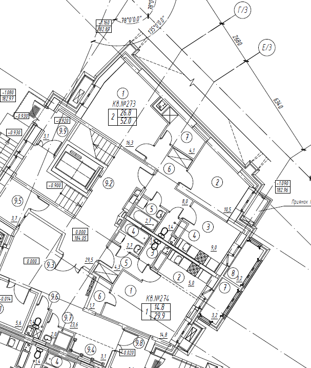 2-комнатная квартира в Митино О2, дом №8, квартира №08-273