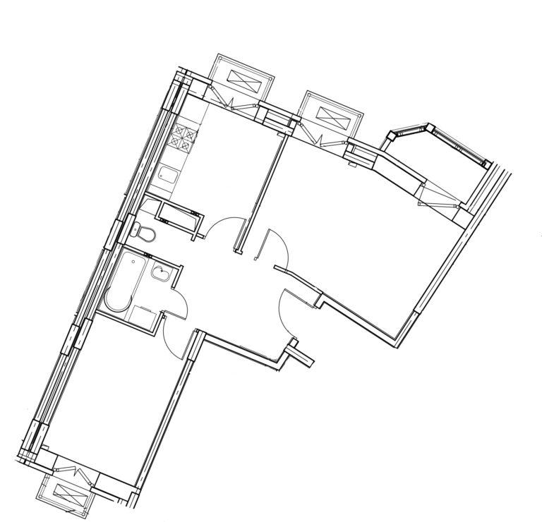 2-комнатная квартира в Митино О2, дом №8, квартира №08-297