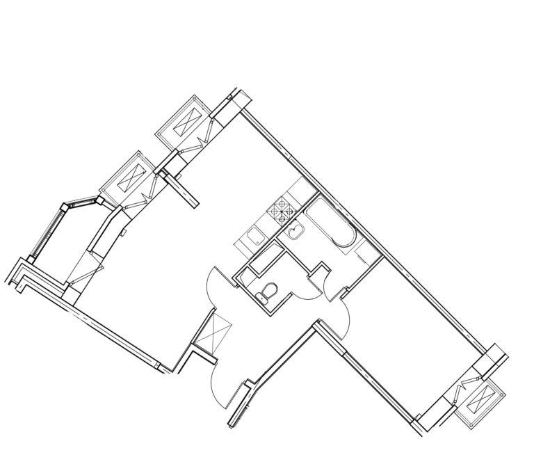 2-комнатная квартира в Митино О2, дом №8, квартира №08-298