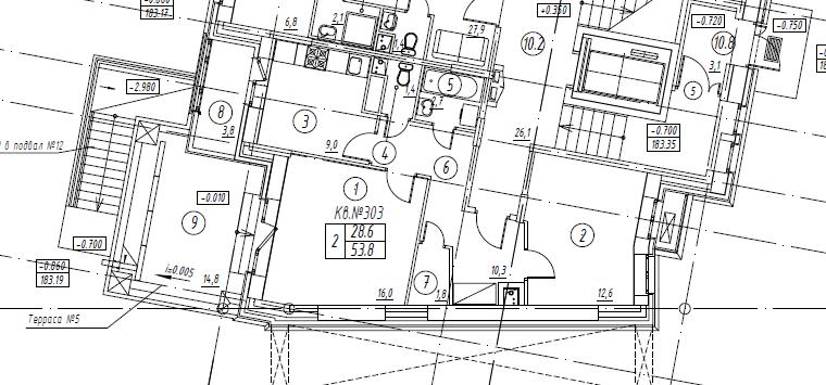 2-комнатная квартира в Митино О2, дом №8, квартира №08-303