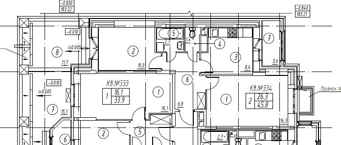 2-комнатная квартира в Митино О2, дом №8, квартира №08-334