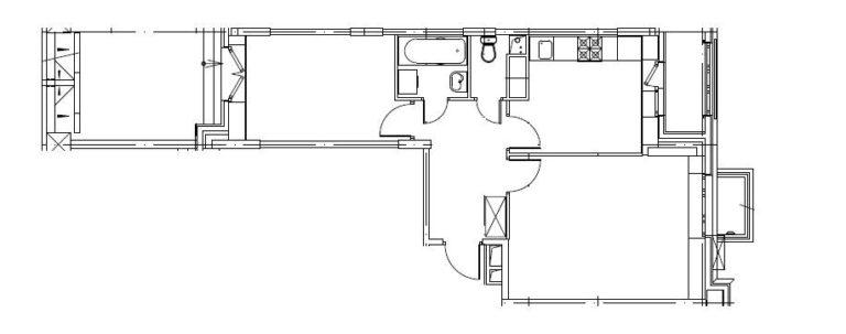 2-комнатная квартира в Митино О2, дом №8, квартира №08-383