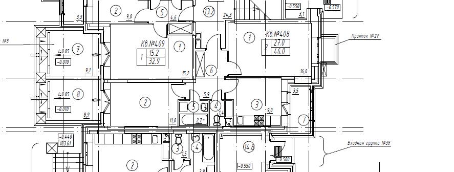 2-комнатная квартира в Митино О2, дом №8, квартира №08-408