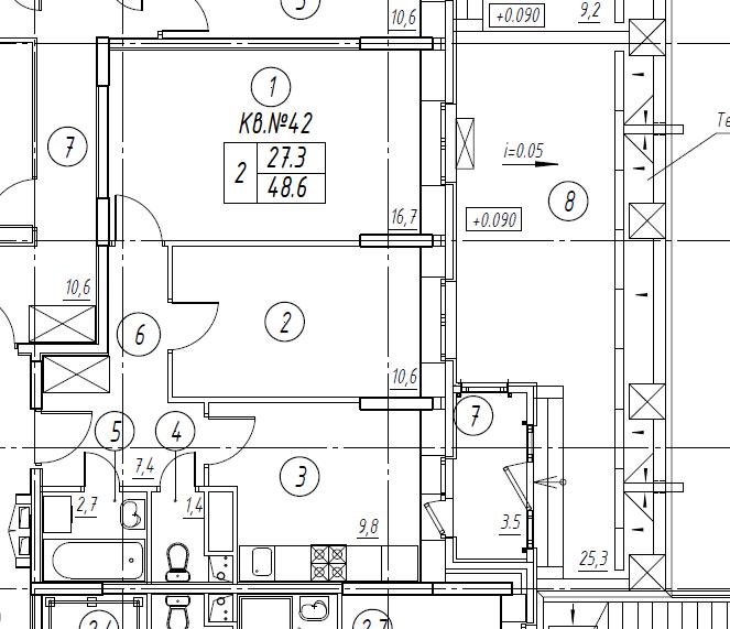 2-комнатная квартира в Митино О2, дом №8, квартира №08-042