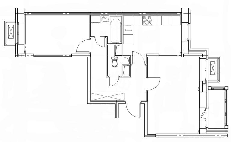 2-комнатная квартира в Митино О2, дом №8, квартира №08-424