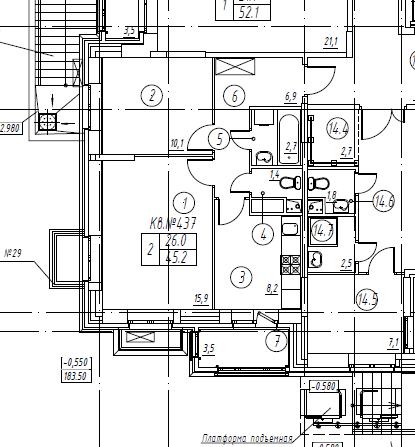 2-комнатная квартира в Митино О2, дом №8, квартира №08-437