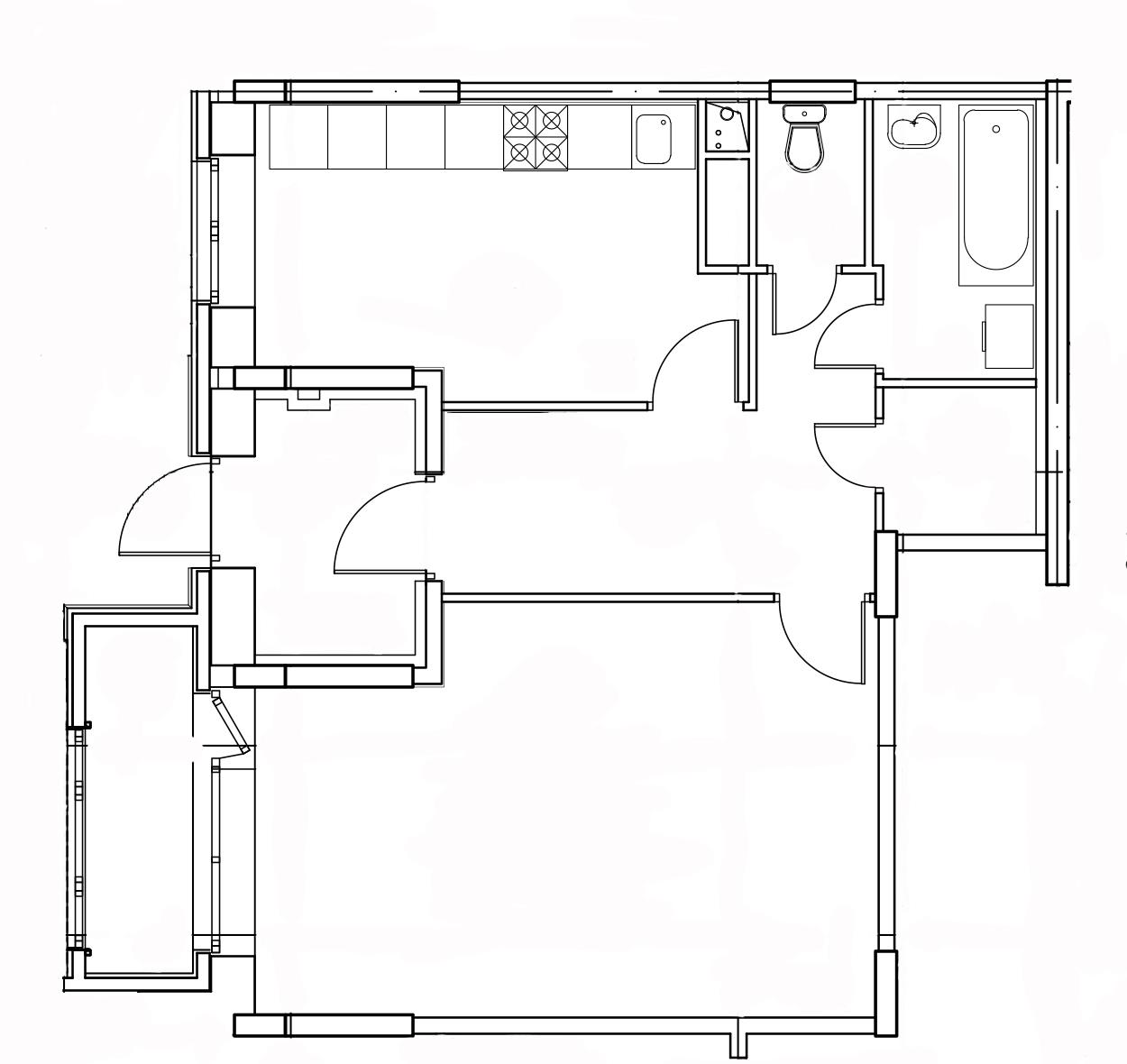 1-комнатная квартира в Митино О2, дом №8, квартира №08-438