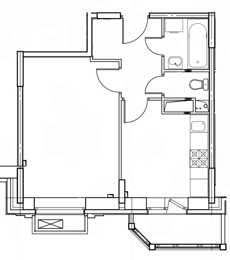 1-комнатная квартира в Митино О2, дом №8, квартира №08-486