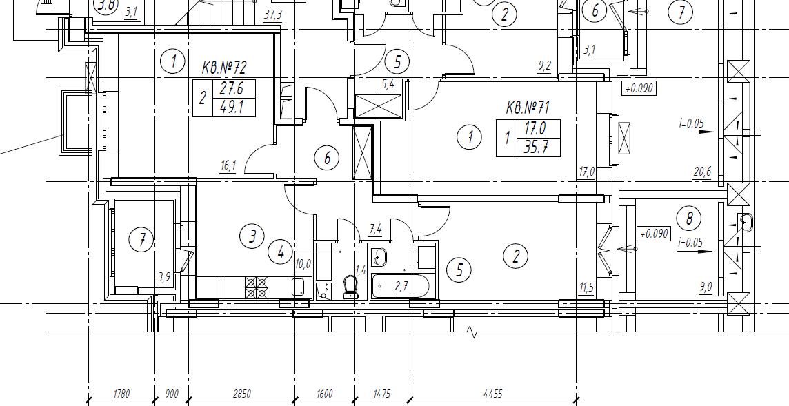 2-комнатная квартира в Митино О2, дом №8, квартира №08-072
