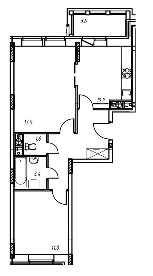 2-комнатная квартира в Митино О2, дом №9, квартира №09-109