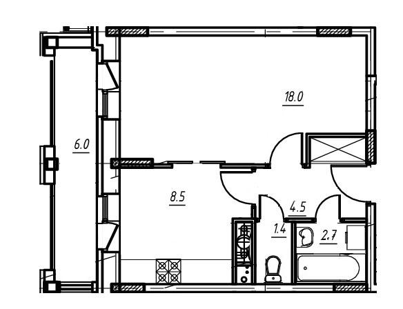 1-комнатная квартира в Митино О2, дом №9, квартира №09-280