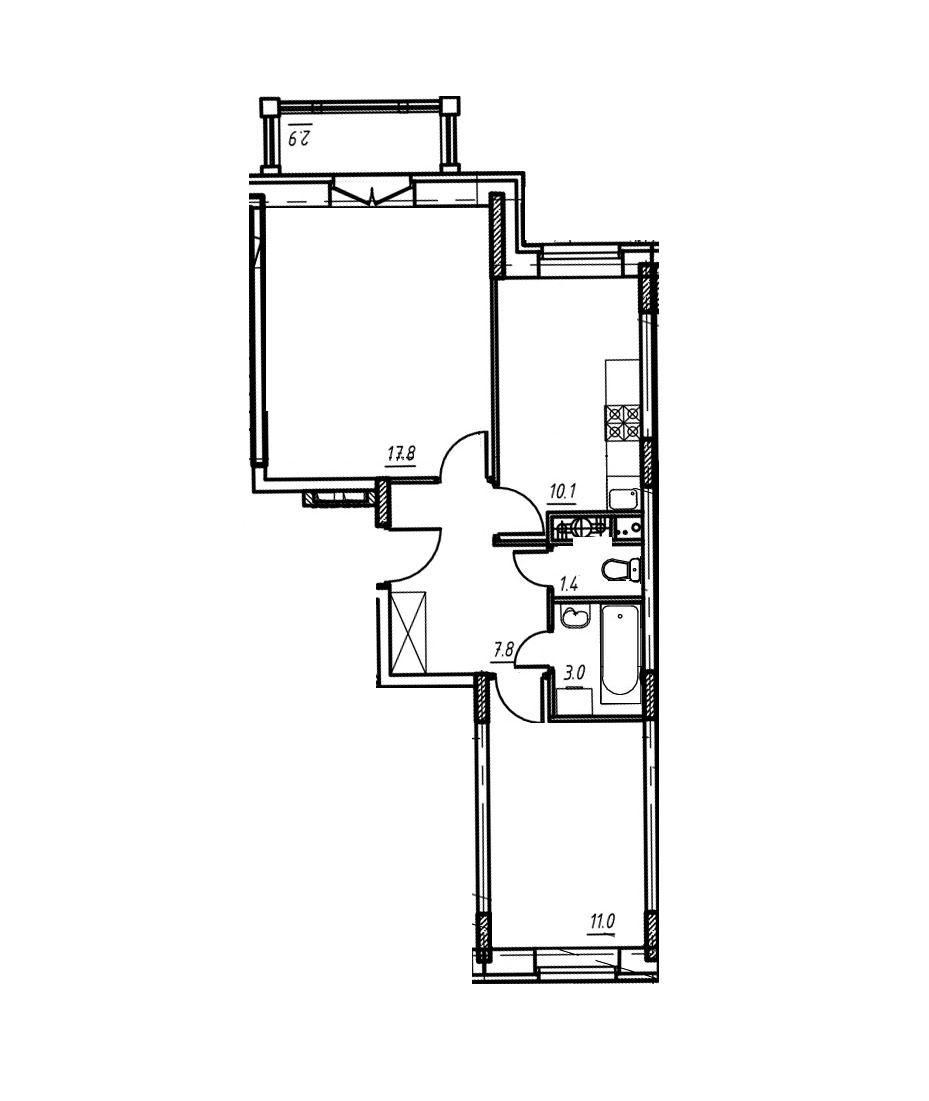 2-комнатная квартира в Митино О2, дом №9, квартира №09-346