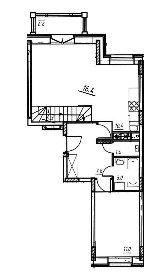 2-комнатная квартира в Митино О2, дом №9, квартира №09-350