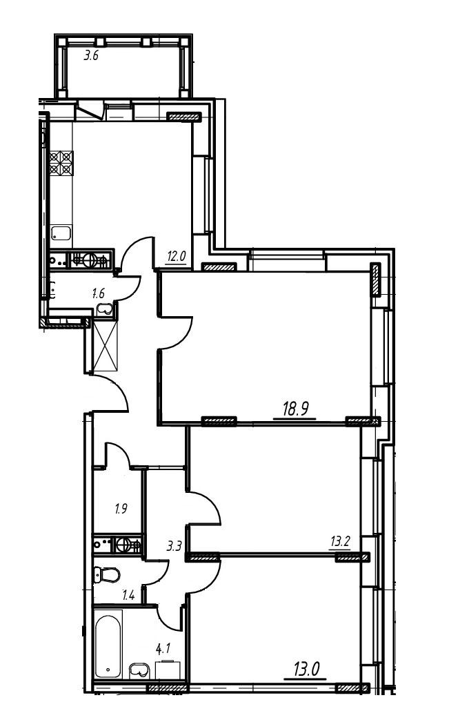 3-комнатная квартира в Митино О2, дом №9, квартира №09-087
