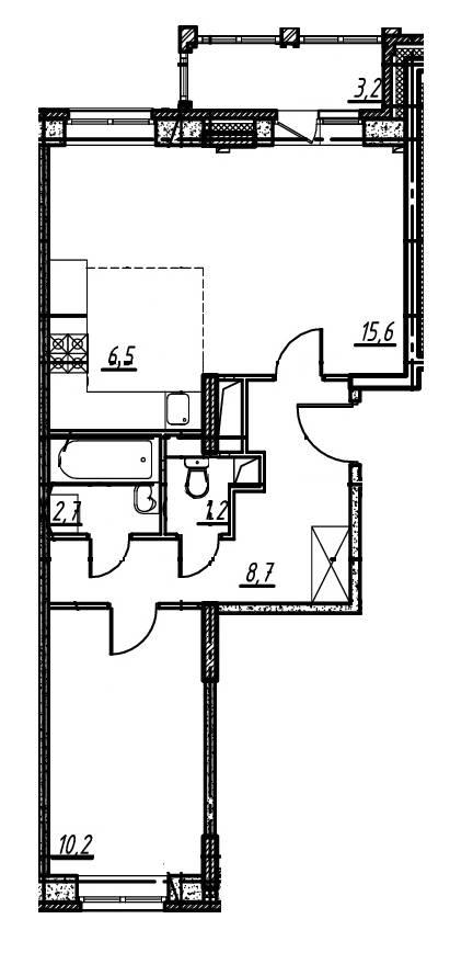 2-комнатная квартира в Опалиха О3 №14-189