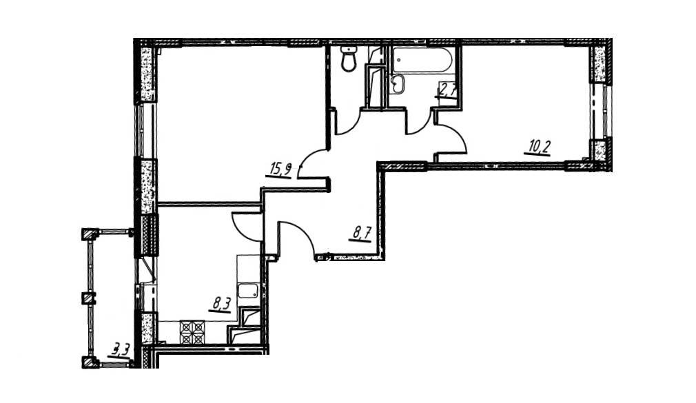 2-комнатная квартира в Опалиха О3 №14-275