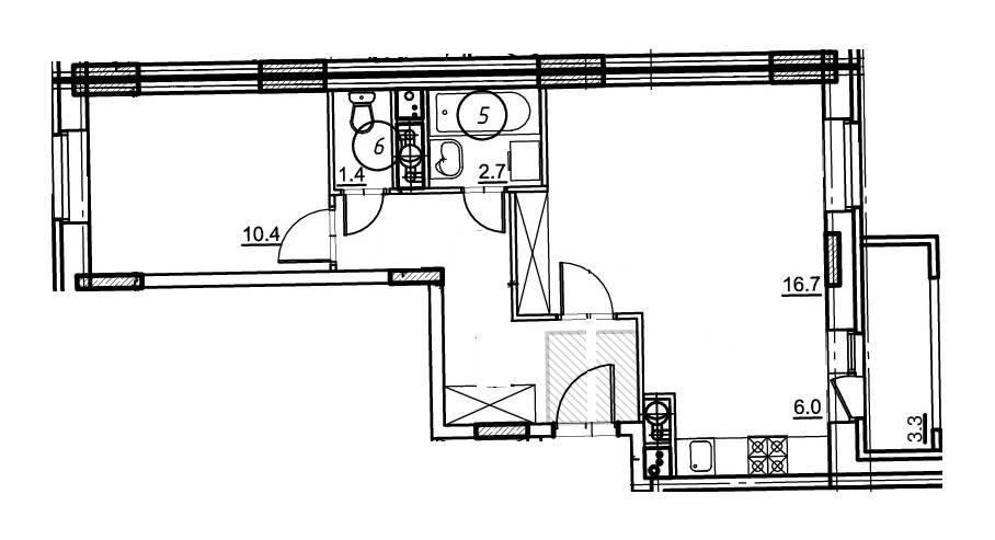 2-комнатная квартира в Опалиха О3 №18-089