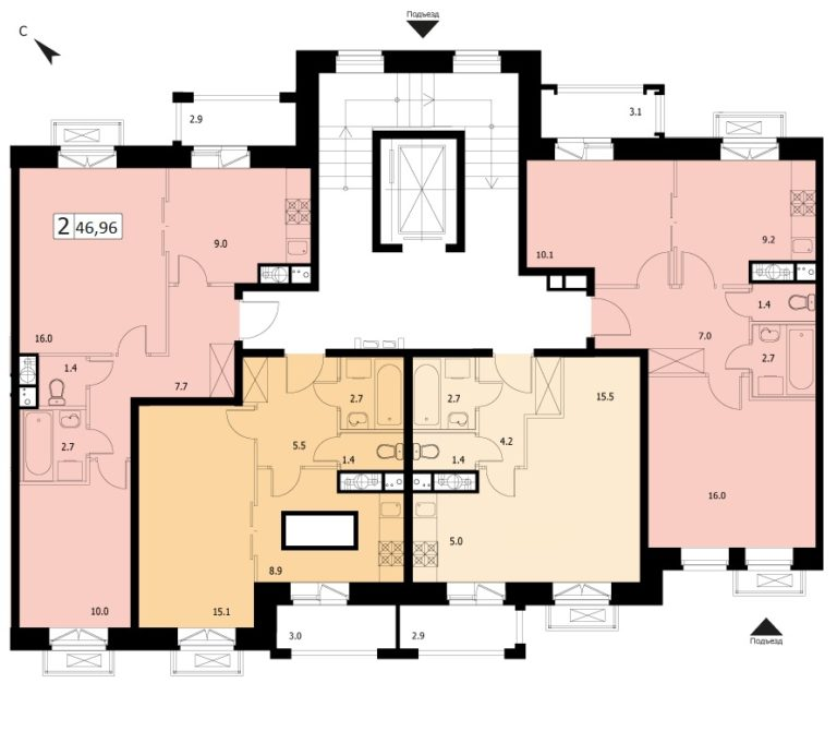 2-комнатная квартира в ЖК Видный город, дом №12к1, квартира №12к1-42