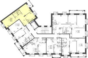 2-комнатная квартира в ЖК Лесобережный, дом №3, квартира №113