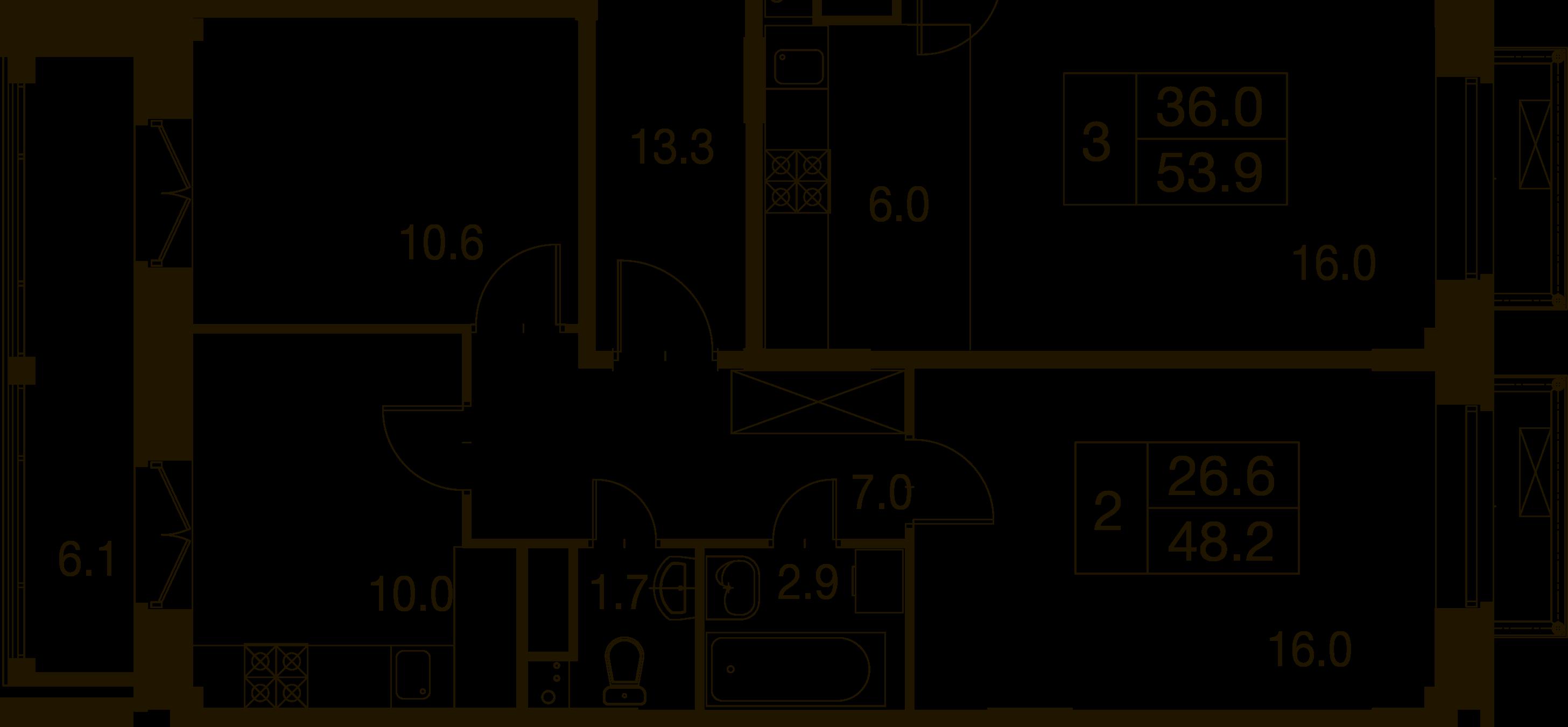 2-комнатная квартира в Митино О2, дом №7, квартира №07-165