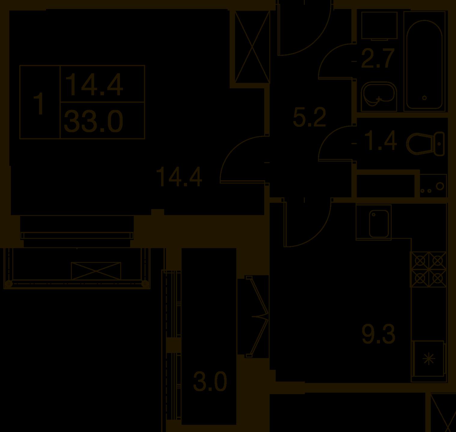 2-комнатная квартира в Митино О2, дом №7, квартира №07-213