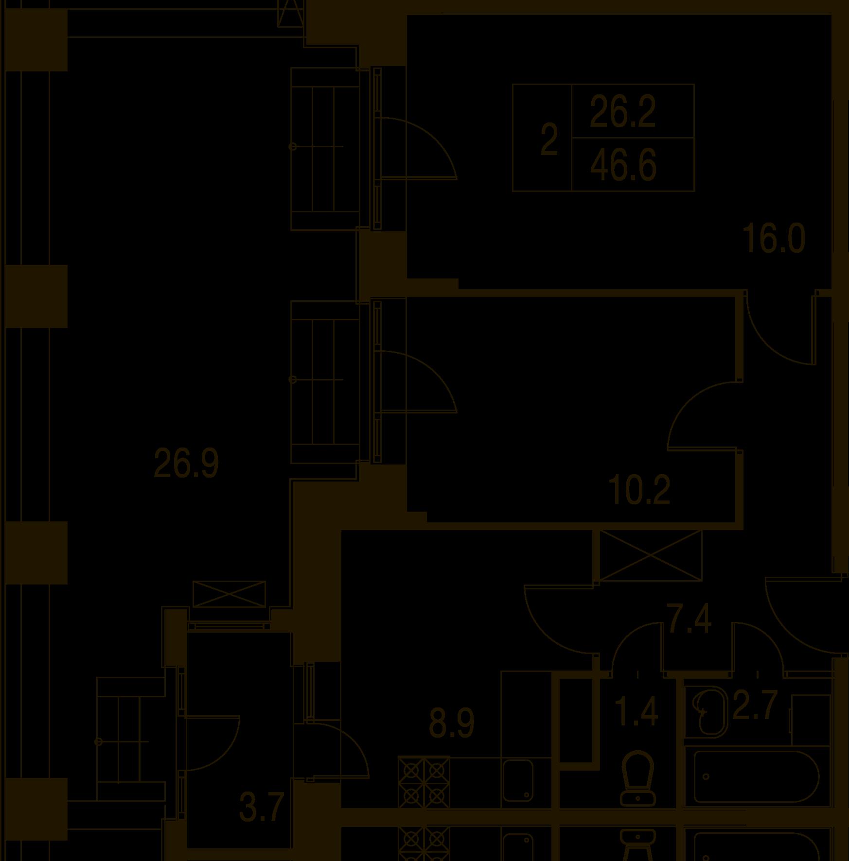 2-комнатная квартира в Митино О2, дом №7, квартира №07-435